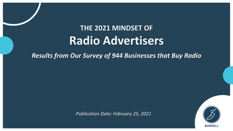 The 2021 Mindset of Radio Advertisers