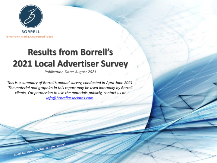 Results From Borrell's 2021 Local Advertiser Survey